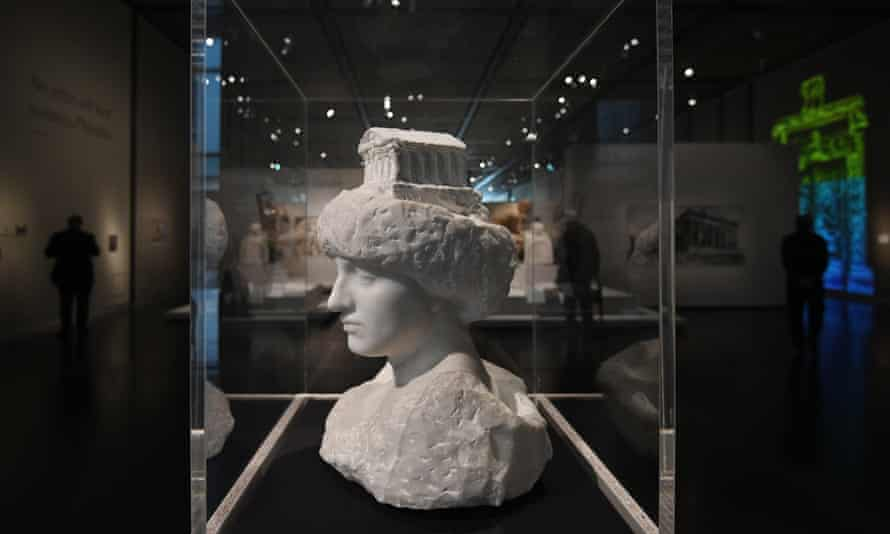 Pallas (Athena) With the Parthenon, 1896, by Rodin at the British Museum.