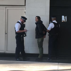 Jack Harries is arrested by police
