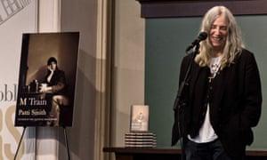 Patti Smith promoting her memoir M Train