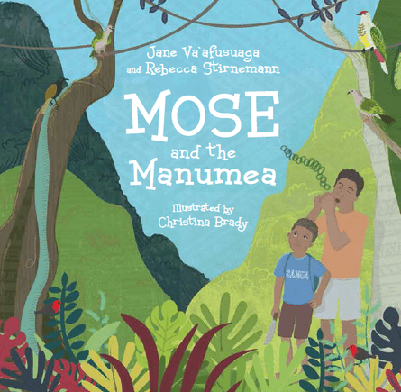 Book cover of a children's book on the manumea. All funds from the book will go to conservation of the species.