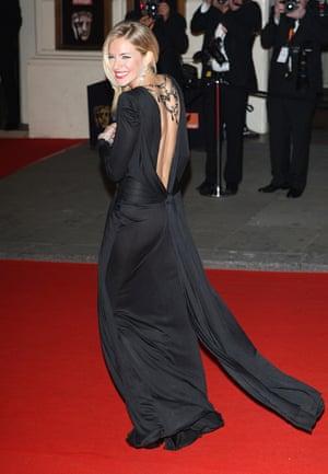 Sienna Miller at the 2008 Bafta awards.