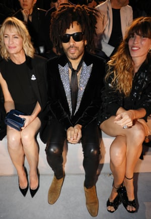 Robin Wright, Lenny Kravitz and Lou Doillon on the front row.