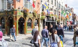 A street in Dublin. Ireland's Industrial Development Authority says scheme will help attract Britons.