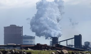 The Tata steelworks in Port Talbot, south Wales