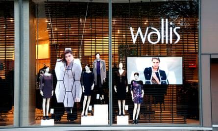 A Wallis shop window.