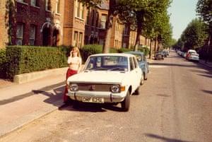 Fleeming Road, 1972 (with car)