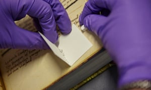 Extracting protein from parchment using eraser crumbs.