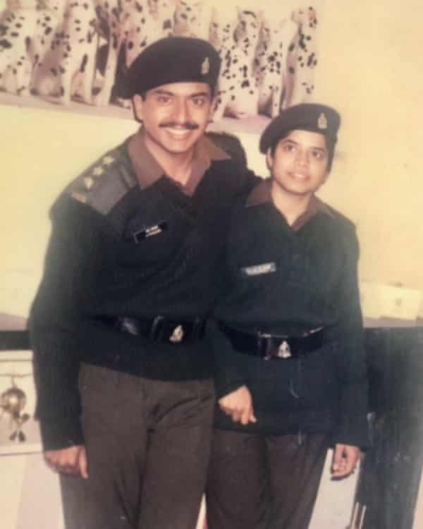 Prakash and Mythily in the Indian Army Medical Corps in 1996