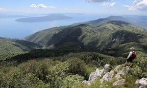 View from slopes of Mount Ucka to the Adriatic