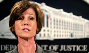 Sally Yates, the acting attorney general.