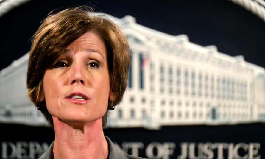 Deputy attorney general Sally Yates