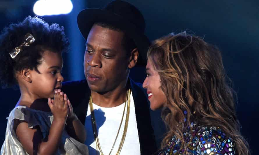 With Blue Ivy and Jay-Z at the 2014 VMAs