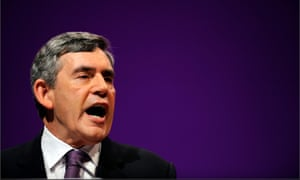 Gordon Brown at the Labour Party conference in Manchester in 2008