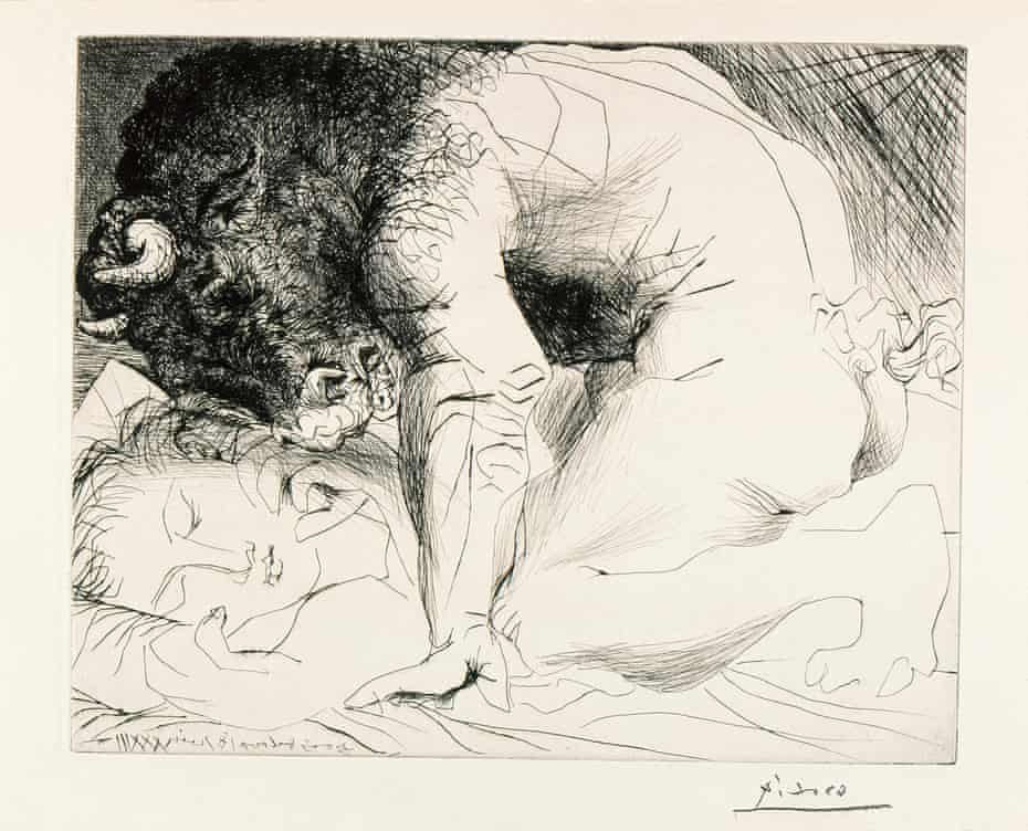 'Awful, unforgettable stuff' ... Minotaure Caressant une Dormeuse by Picasso, 1933.
