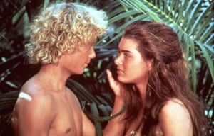 Actors Christopher Atkins and Brooke Shields in The Blue Lagoon, 1980