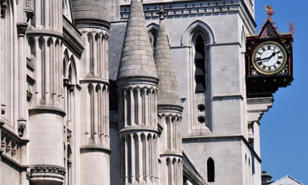 The Royal Courts of Justice in Fleet Street, London.