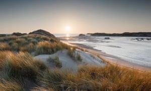 Dunes on the north Devon coast