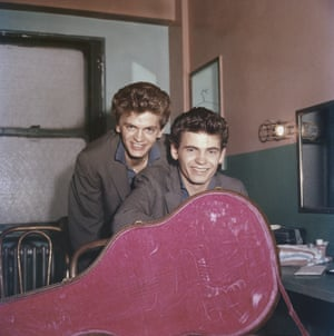 The brothers are seen around 1958
