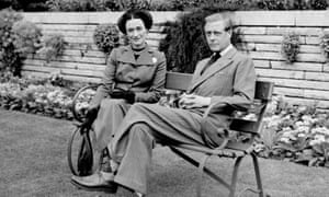 The Duke and Duchess of Windsor in the grounds of Charters, a country house in Berkshire, May 1947.