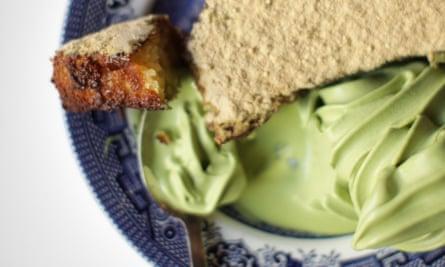 Bone Daddies' french toast with matcha green tea ice-cream.