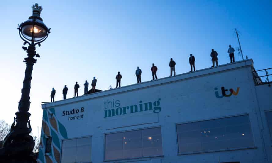 The Unveiling of Project 84, to represent the 84 men who kill themselves per week in Britain