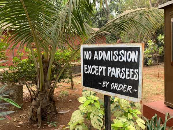 A sign outside a Parsi temple in Lonavala.