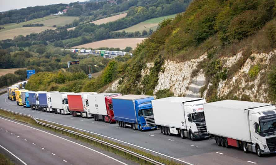 Huge tailbacks could be the norm in Kent when the Brexit transition ends, a government report reveals.