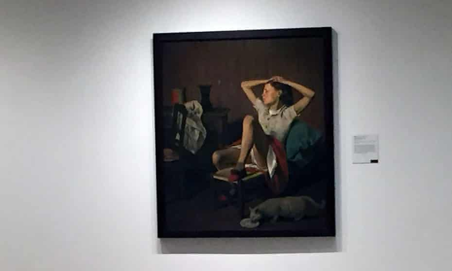 The 1938 painting entitled Thérèse Dreaming by French-Polish artist known as Balthus.