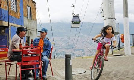 Medellín's public cable-car system
