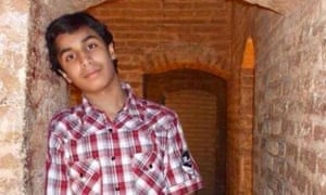 Ali Mohammed al-Nimr, who has been sentenced to crucifixion in Saudi Arabia