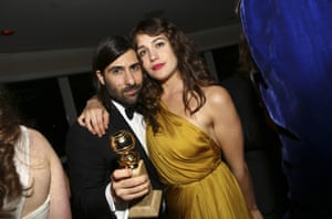 Jason Schwartzman and Lola Kirke at the Amazon after party.