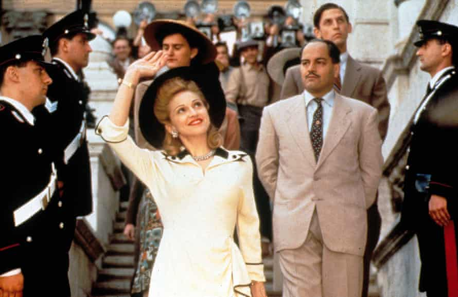 'It hadn't crossed my mind that going to a musical was something I would enjoy' … the film adaptation of Evita, starring Madonna.