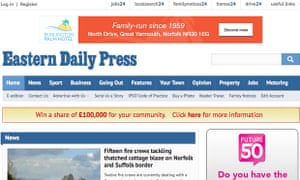 Archant's titles include the Eastern Daily Press