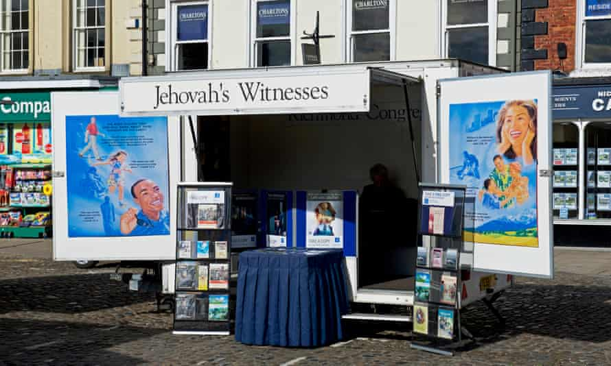 Stall promoting Jehovah's Witnesses