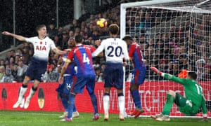 Juan Foyth heads the ball home to score his first goal for Spurs to earn his side victory against Crystal Palace at Selhurst Park.