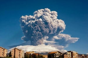 Smoke billows from Mount Etna on Tuesday