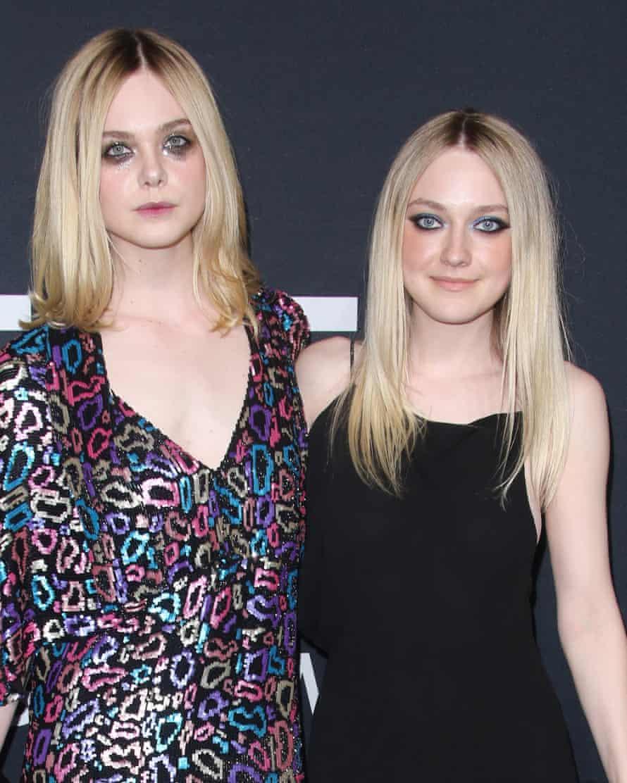 Dakota Fanning with her sister Elle.