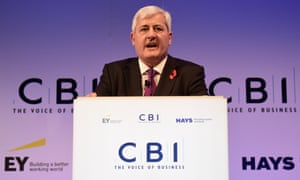 Paul Drechsler, president of the CBI addresses delegates at the 2015 annual conference.