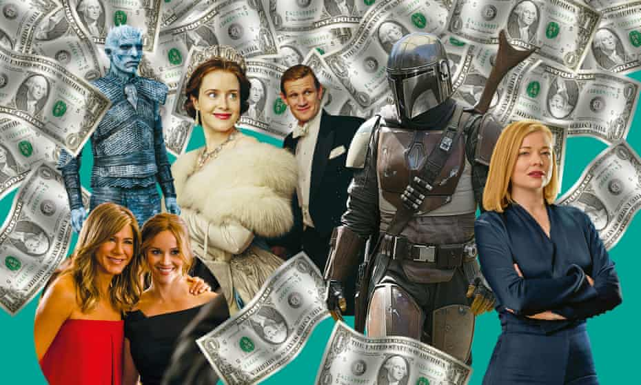 Golden age... (from left) The Morning Show; Game of Thrones; The Crown; The Mandalorian; Succession