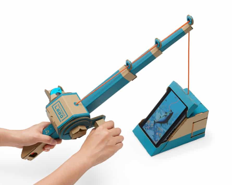 Nintendo Labo's fishing game
