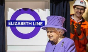 Queen Elizabeth attends the formal unveiling of the new logo for Crossrail, which is to be named the Elizabeth line