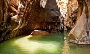 Freshwater pool in Wadi Hidan