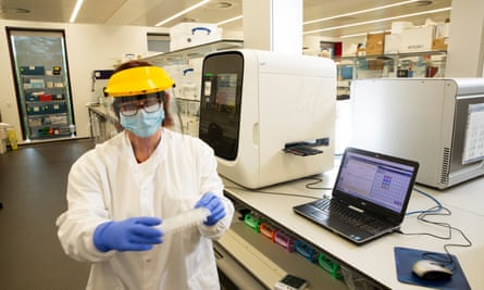 Covid test samples being processed at Censo Biotechnologies laboratory in Roslin, Scotland