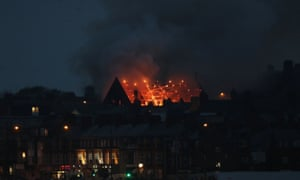 Fire takes hold of the Trinity United Reformed Church in Whitley Bay,