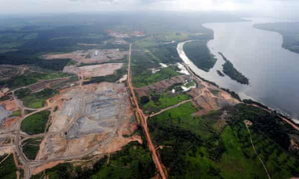The Belo Monte dam on the Xingu River, Pará, Brazil