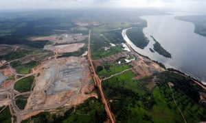 The Belo Monte dam on the Xingu River, Pará, Brazil