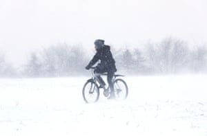 An intrepid rider at Helix park in Falkirk.
