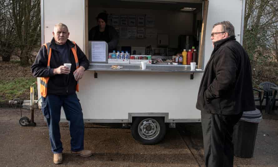 Jim Andrews (left) drives for the construction industry and Neil Wheeler is an NHS security worker.