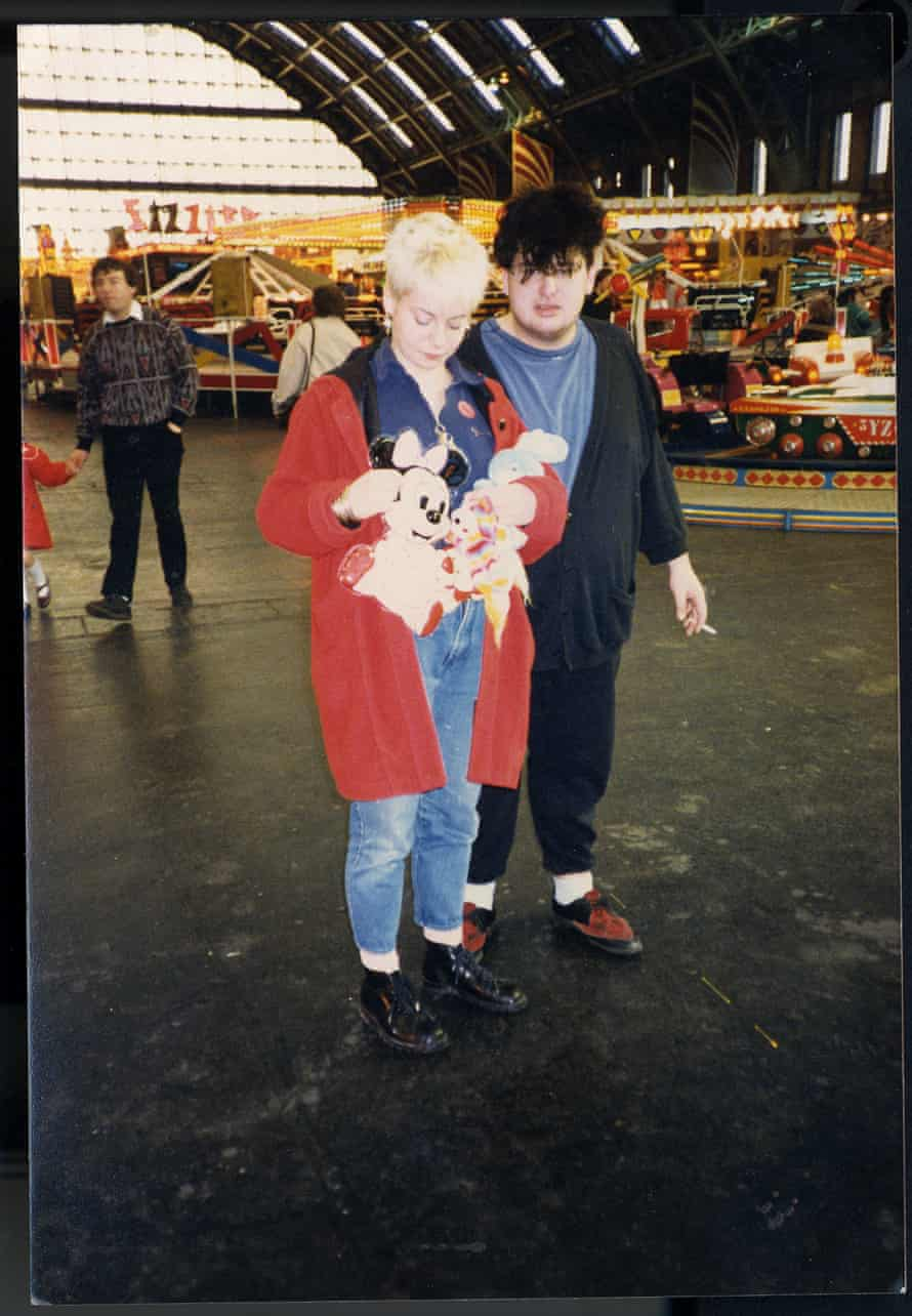 Miranda and friend on her 21st birthday, in 1988, at a fair in Manchester.