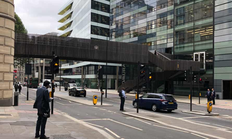The Suffolk Lane pedway, east of Cannon Street station, was recently clad with timber.